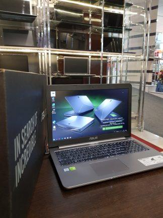 "15.6"" 1920x1080 Ноутбук ASUS K501UQ-DM068T / Intel Core i3 6100U 4*2.3ГГц, 4Гб DDR 4 / 500Гб / nVidia GeForce 940MX - 2048 Мб / ПОДСВЕТКА КЛАВИАТУРЫ / Windows 10 новый коробка"